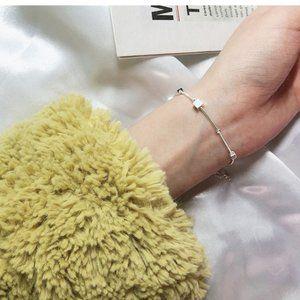 Square Cube Charm Simplistic Bracelet Minimalist